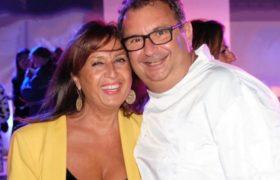 Foto dello chef Paolo Gramaglia e Anna Smeraglia, titolare Azienda Olivarte